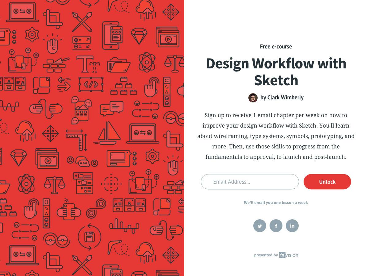 Flujo de trabajo de diseño con boceto