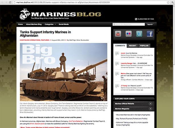 Marines site