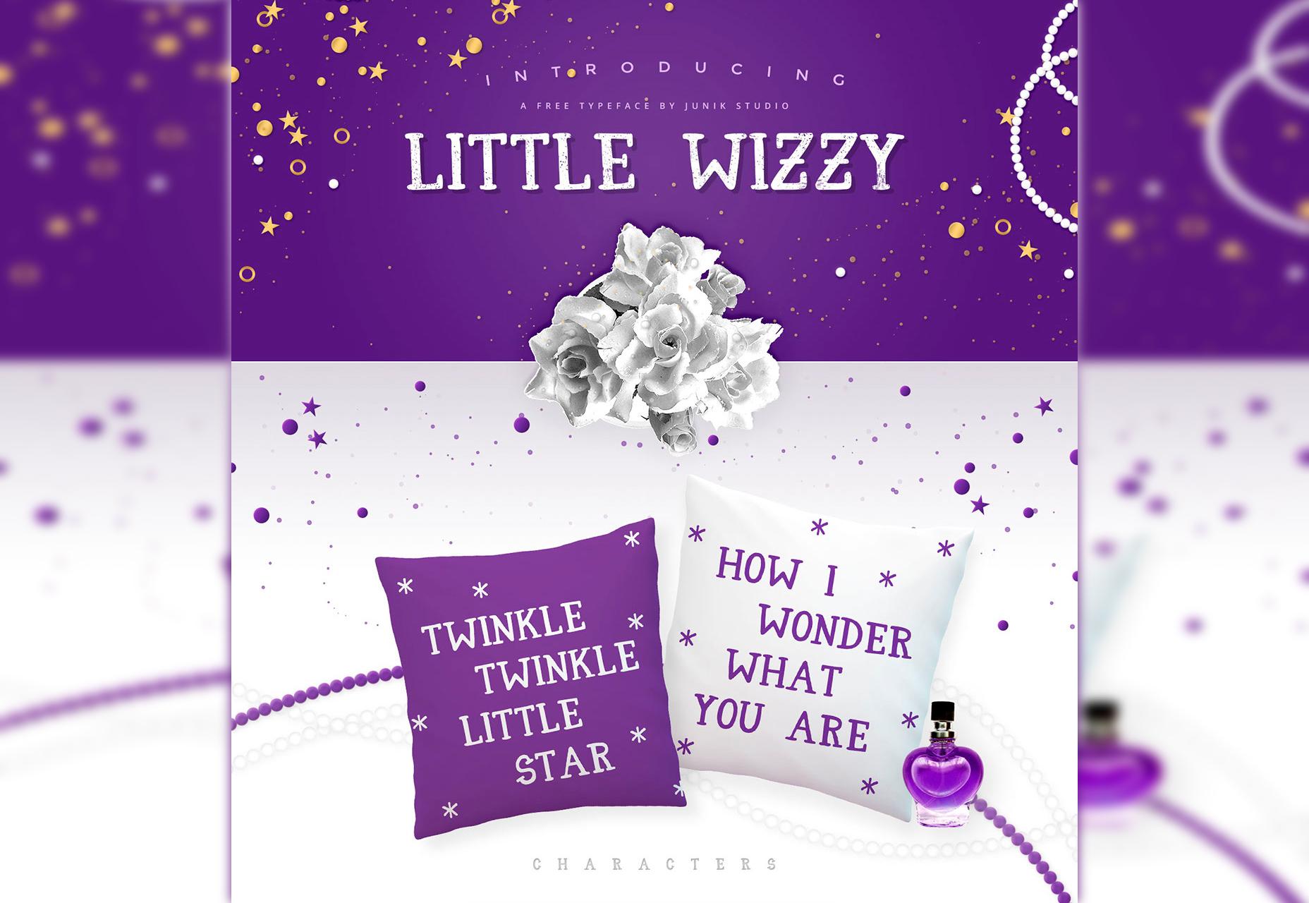 Little Wizzy: tipo de letra Sans Fairy-like