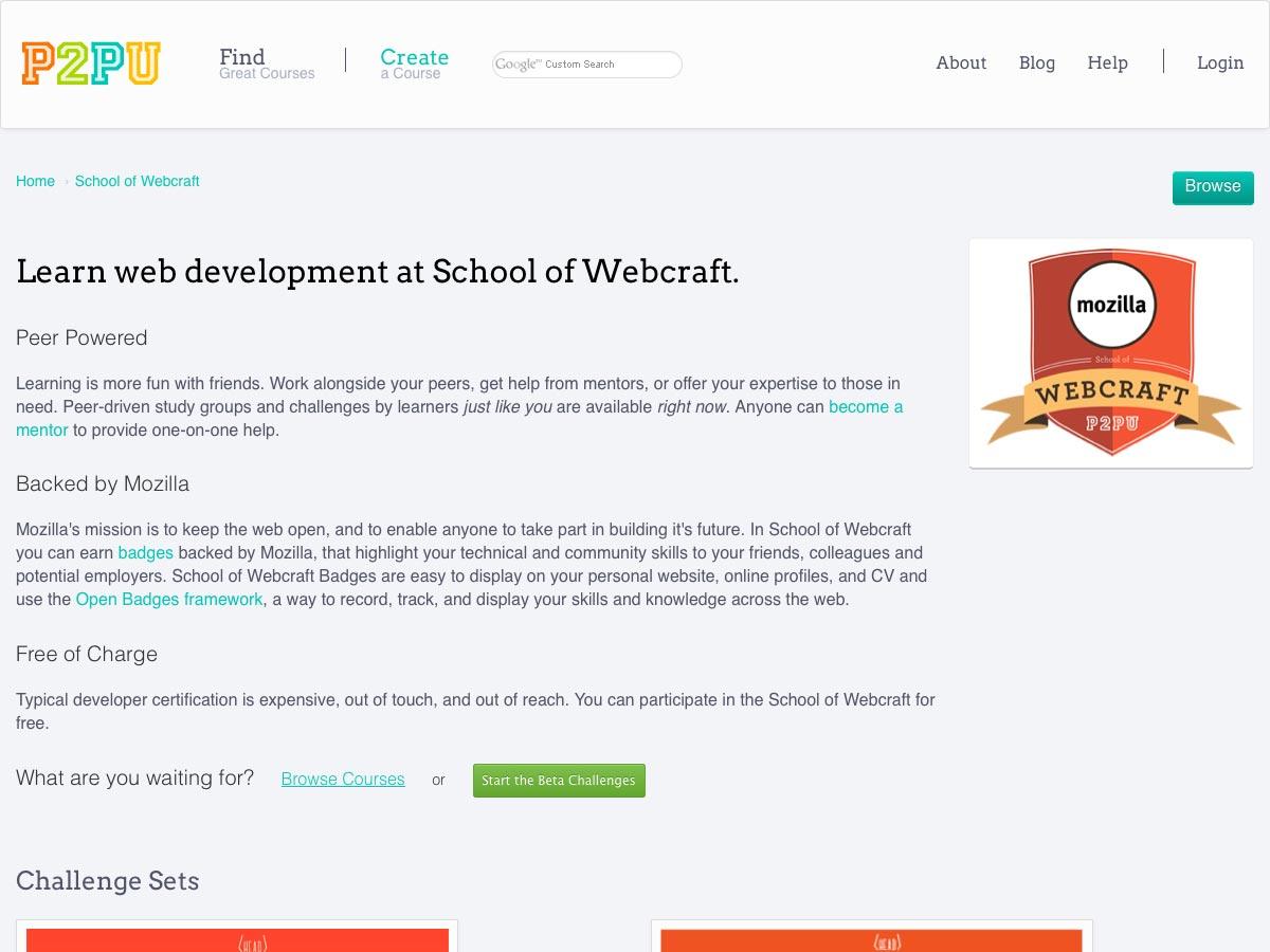 P2PU School of Webcraft