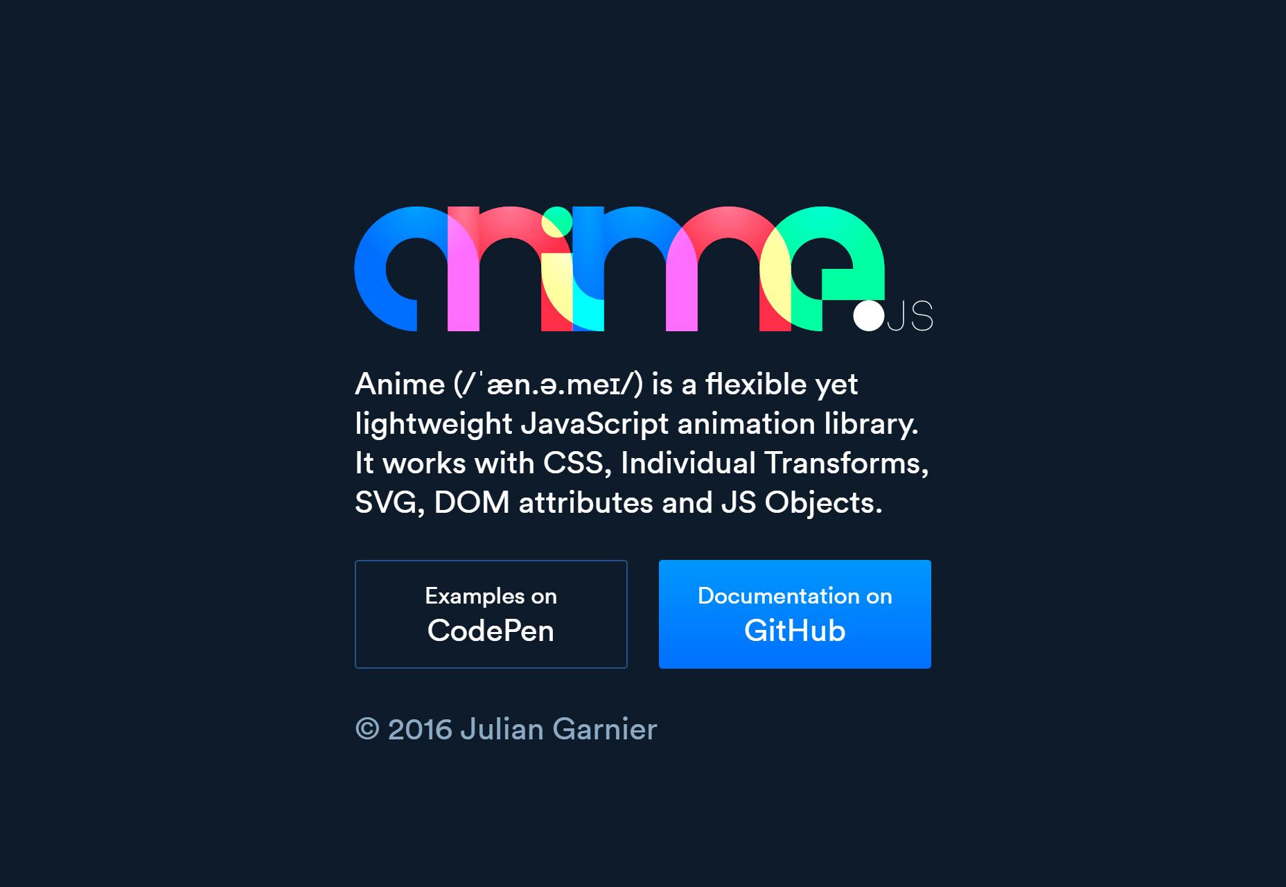 Anime.js: Výkonná knihovna animace JavaScript