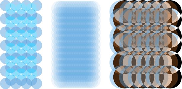diferentes texturas y patrones creados a partir de la misma capa