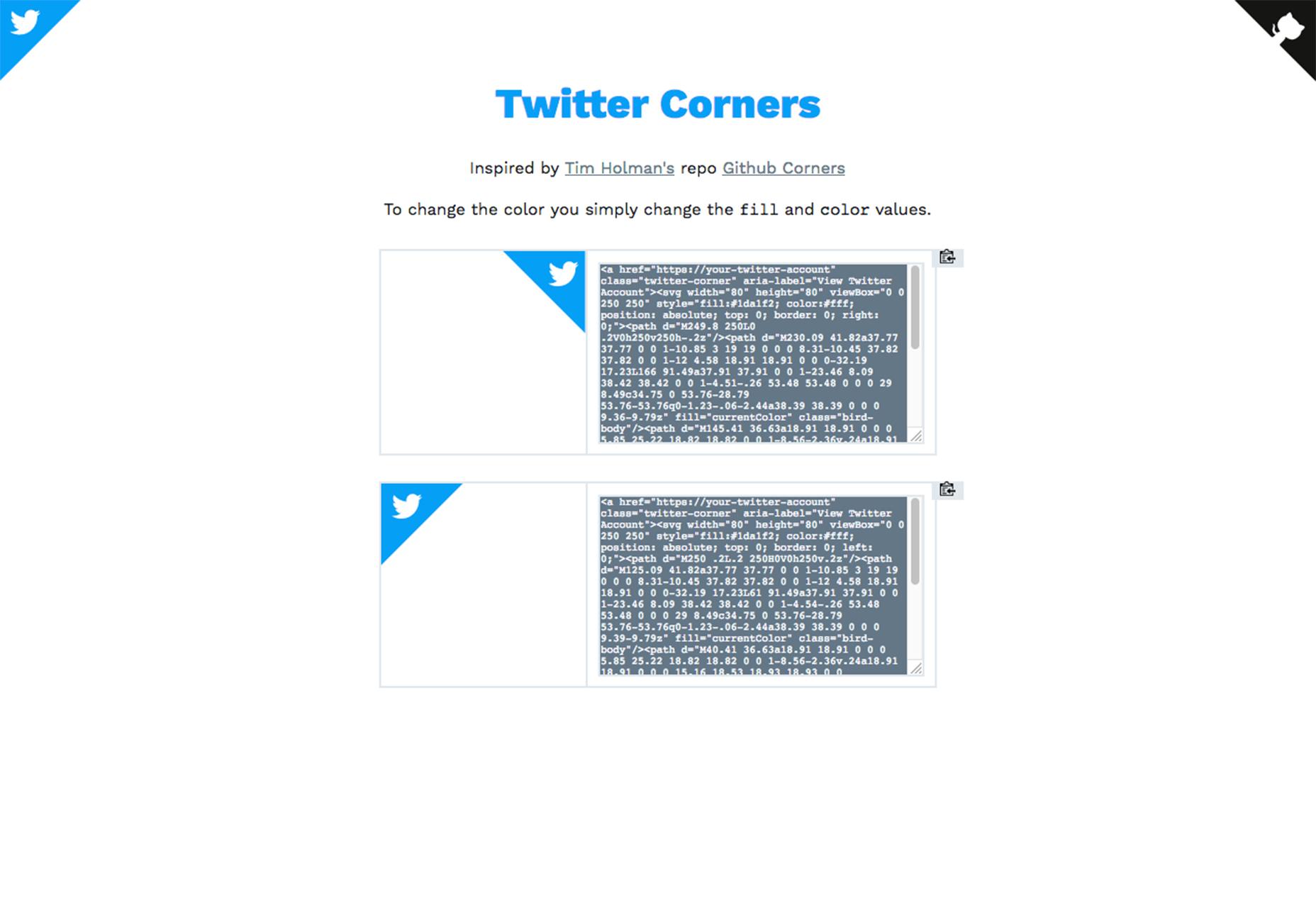esquinas de twitter