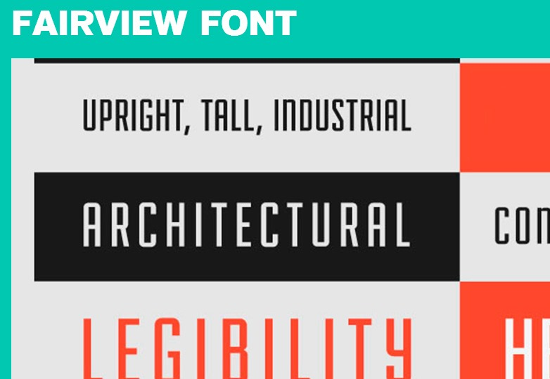 Fairview font
