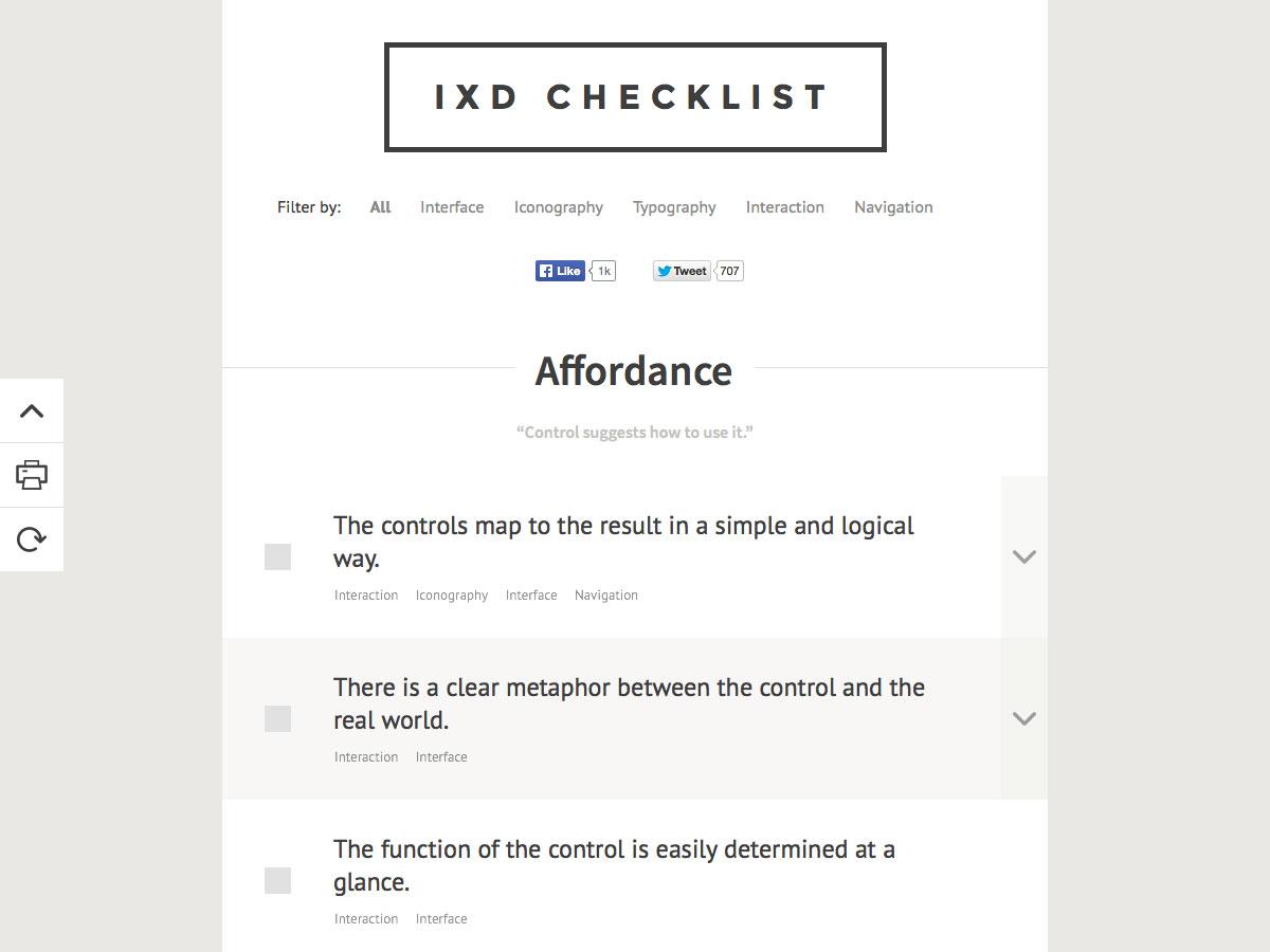 Lista de comprobación ixd