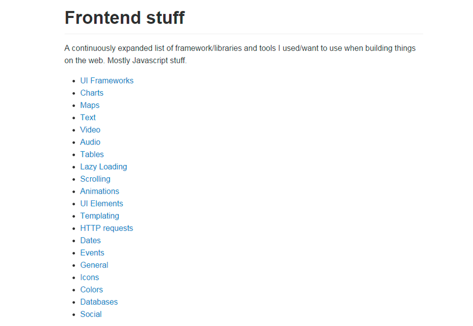 Material frontend