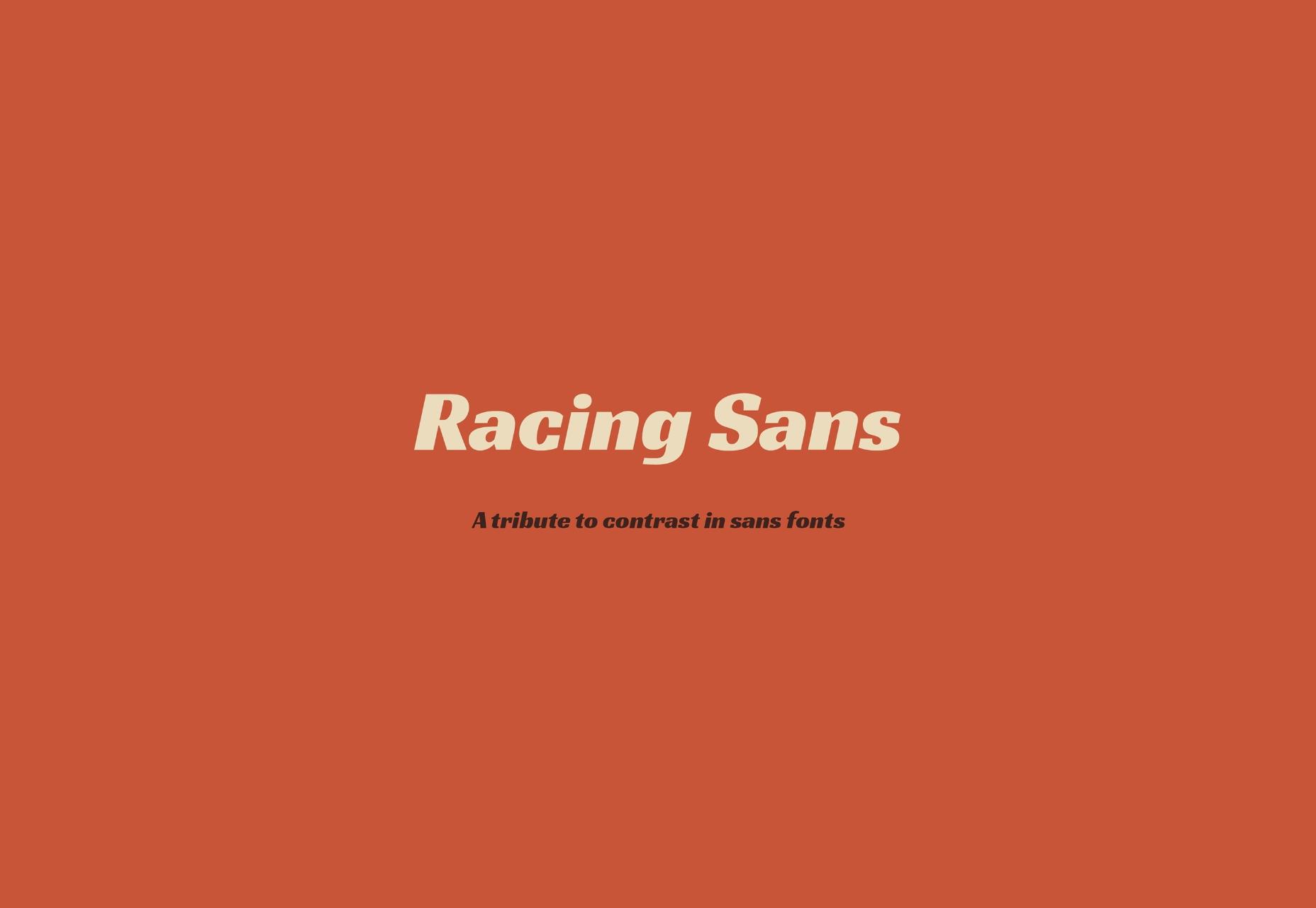 Fuente abierta Racing Sans: Speeding Cars-inspirada