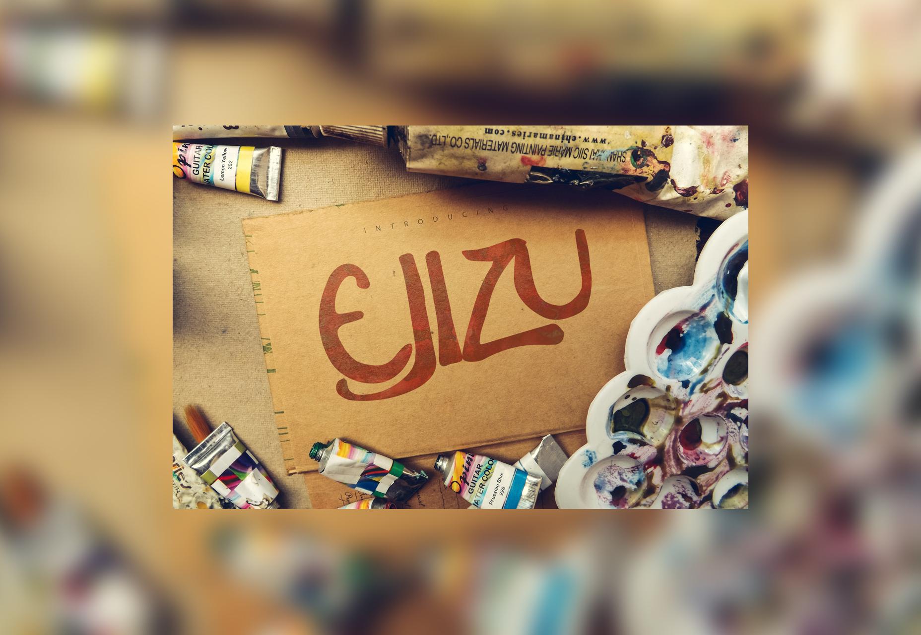 Ejizu: Tipografía con estilo escrita a mano