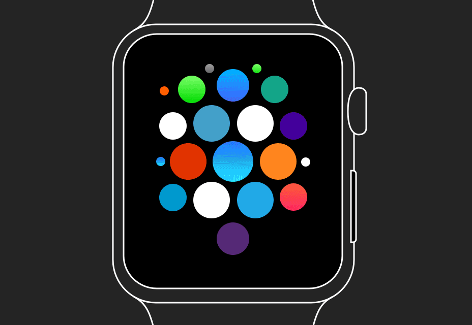 Apple Watch UI Kit pro skici