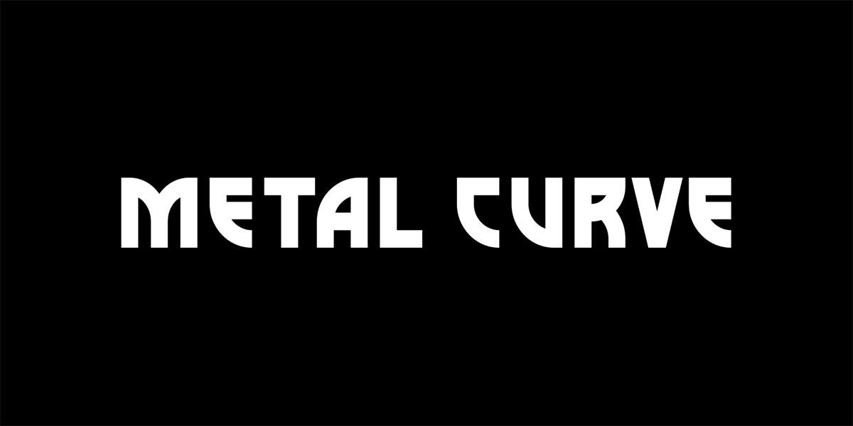 curva de metal