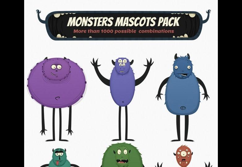 Monster mascots pack
