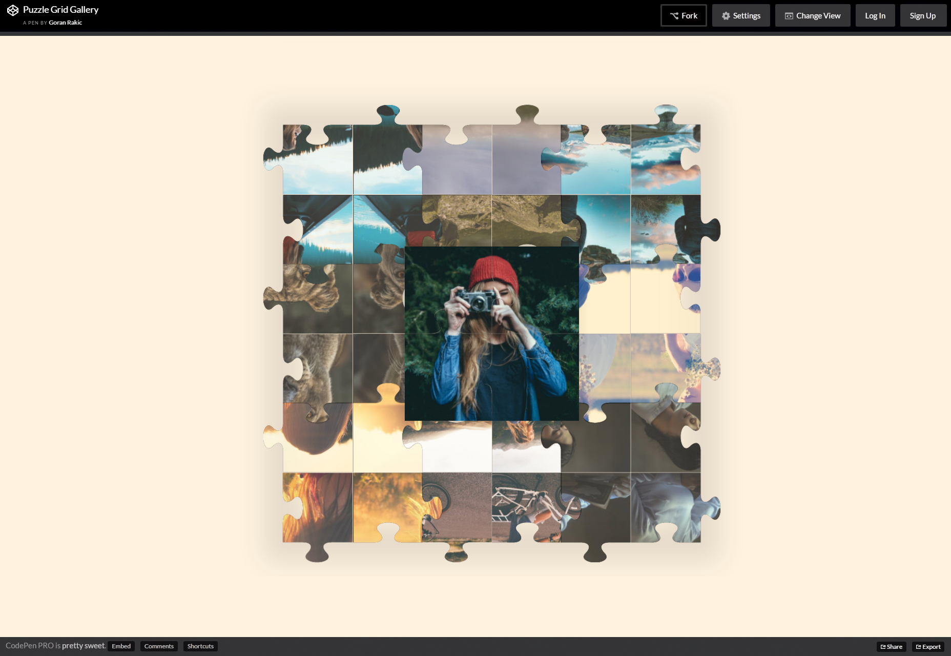 CSS Animated Puzzle Hover Grid Galleria