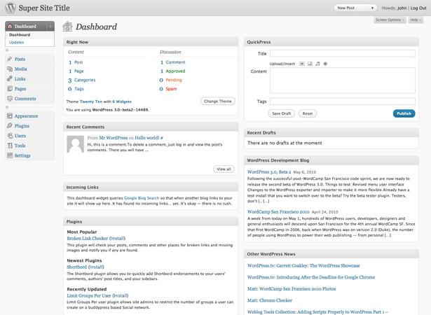 Maqueta del encabezado de WordPress
