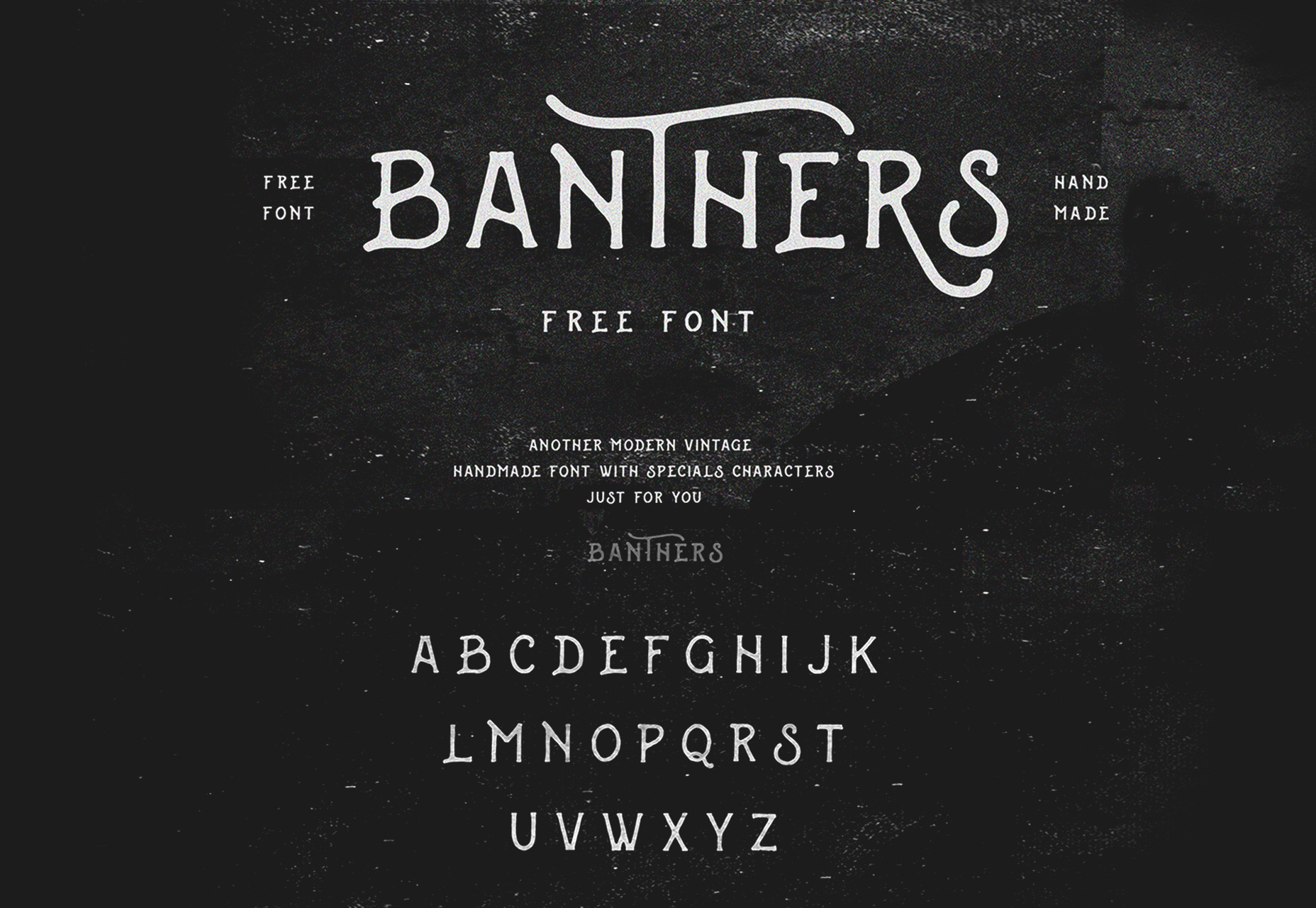 Banthers: A Chalk Handwritef lettereface