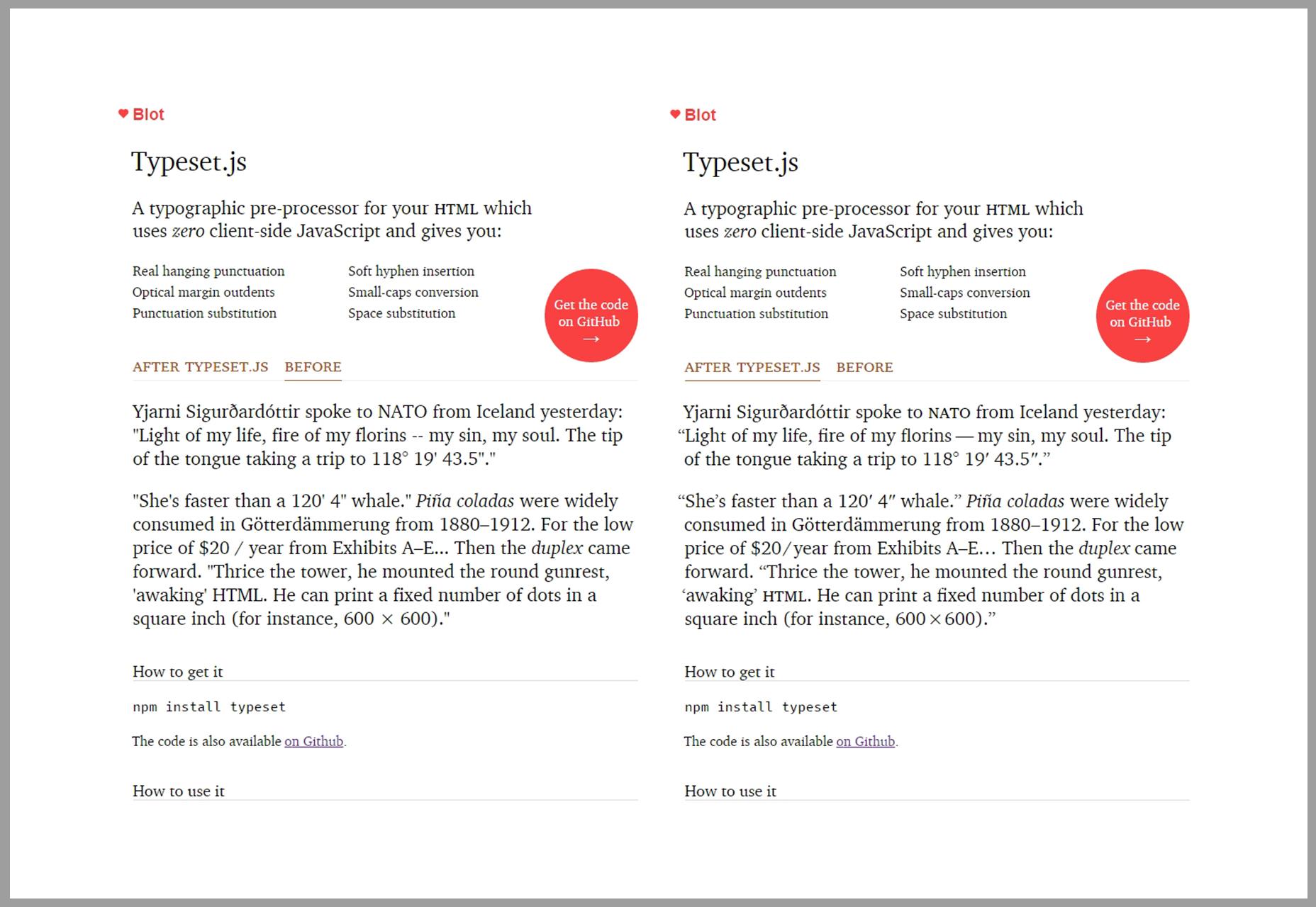 TypesetJS: HTML-gefocuste tekst Pre-processor