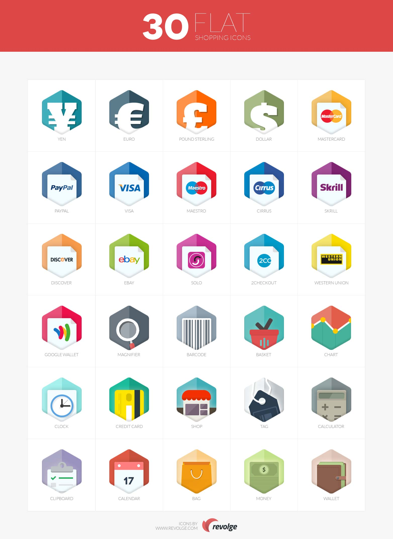 30-flat-ikoner