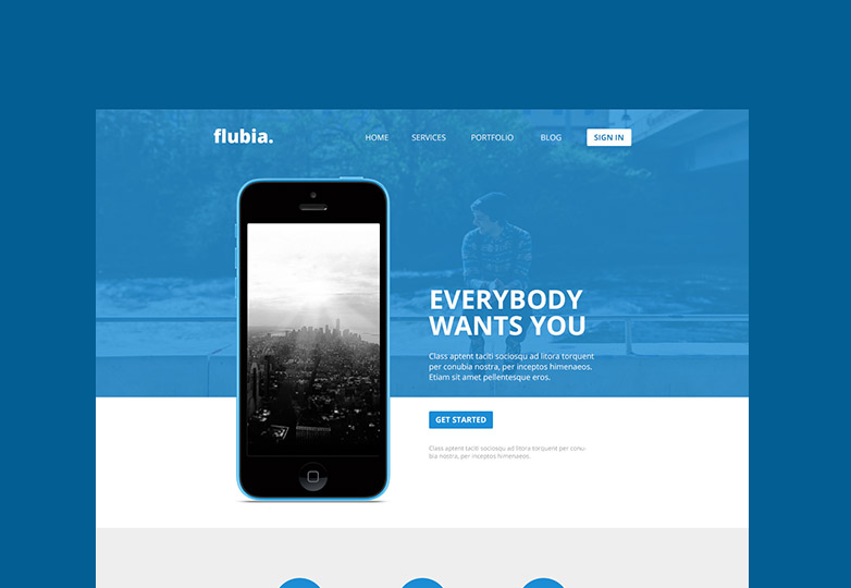 Flubia PSD template