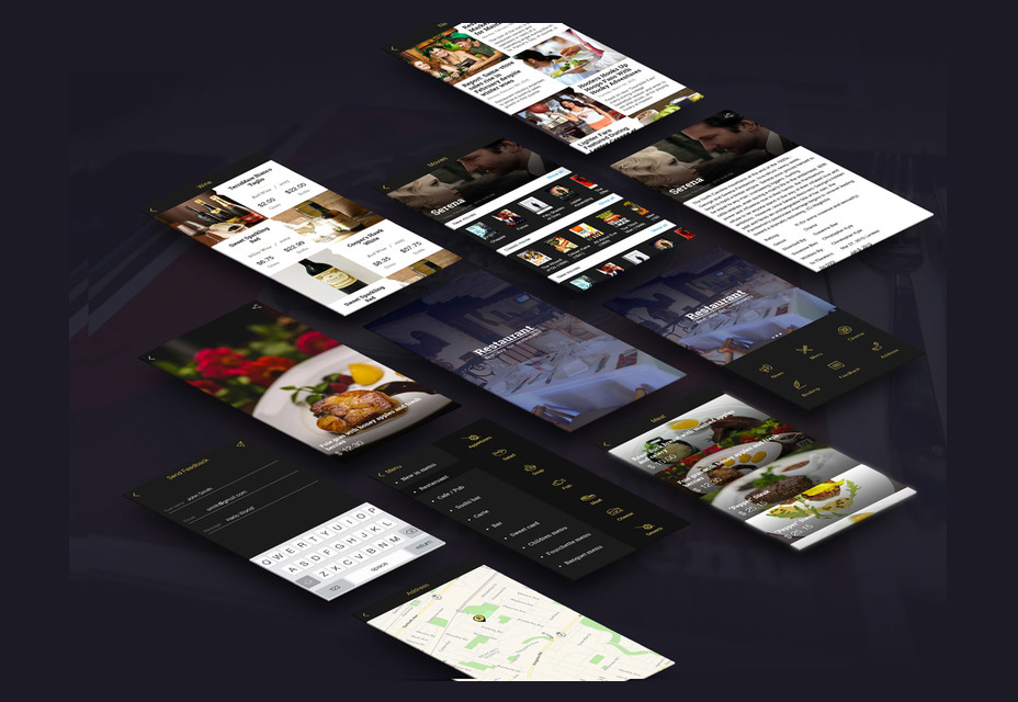 Restaurant App-sjabloon PSD