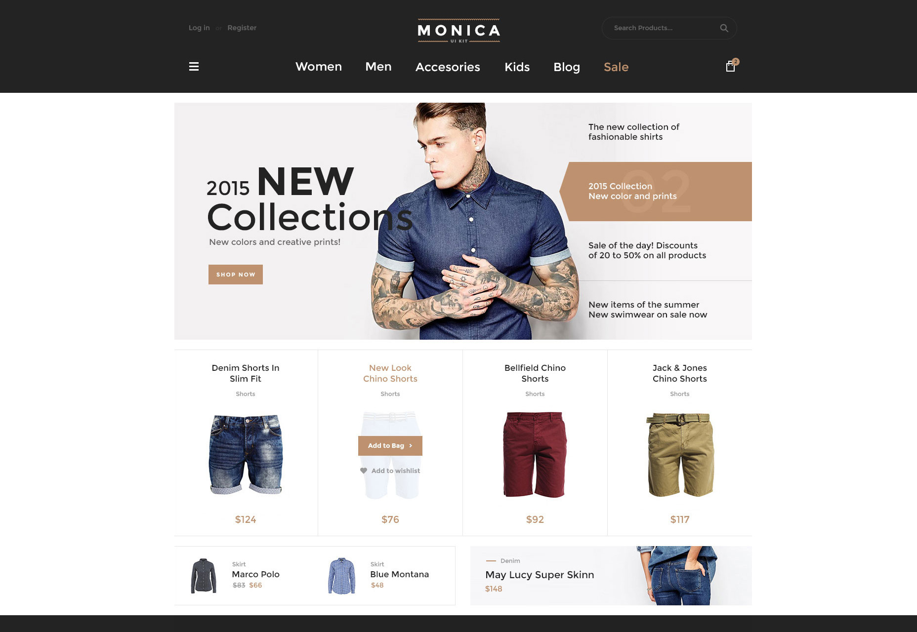 Monica: Web ECommerce Web UI Kit Freeware