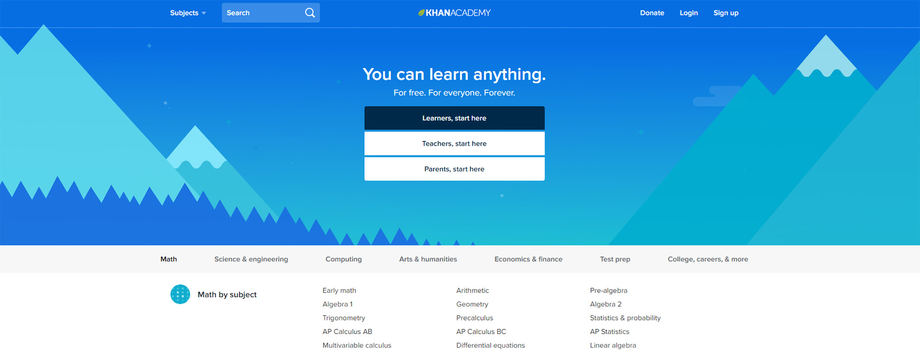 09-khan-akademie-homepage