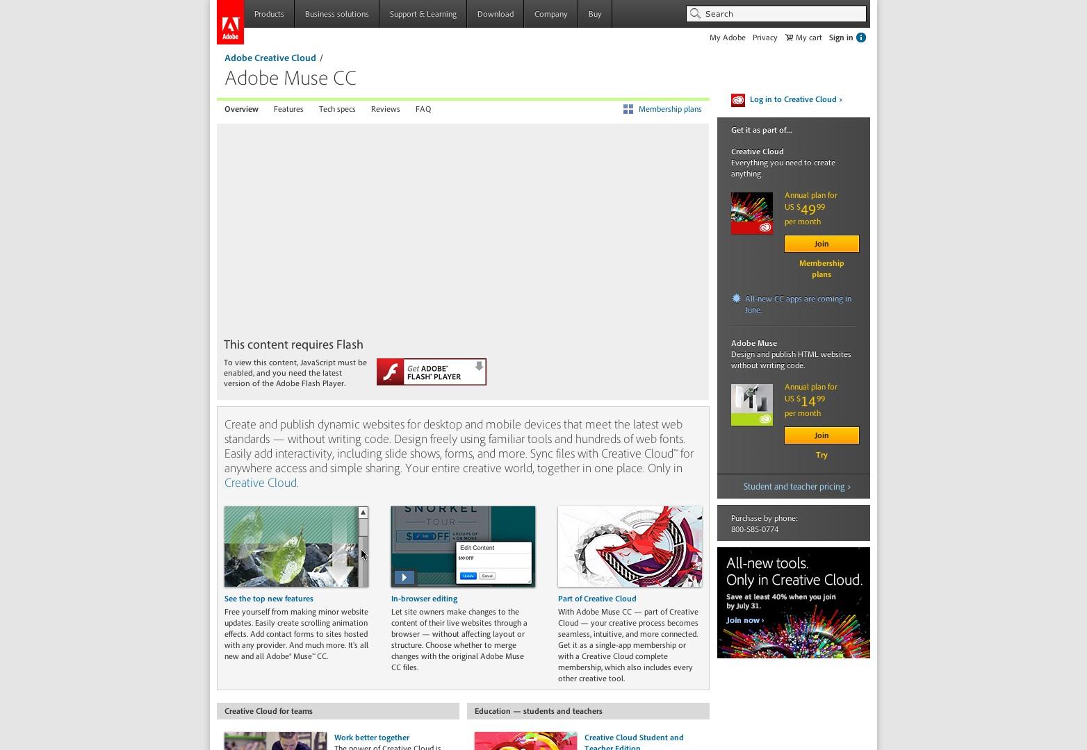 Descargue Adobe Muse CC y cree un sitio web | Adobe Muse CC