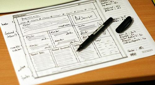 Skenování webových mřížky na papíře