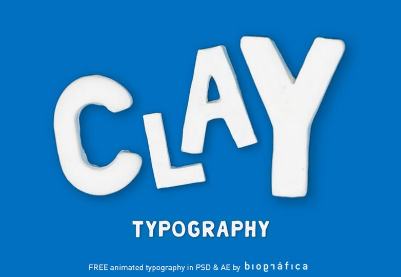 Animated clay typography