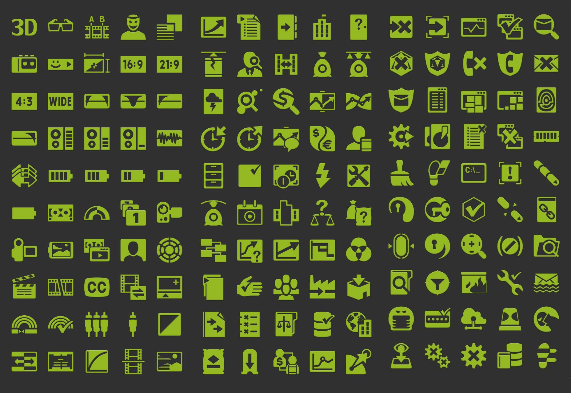 54K bewerkbare en schaalbare Android-pictogrammen