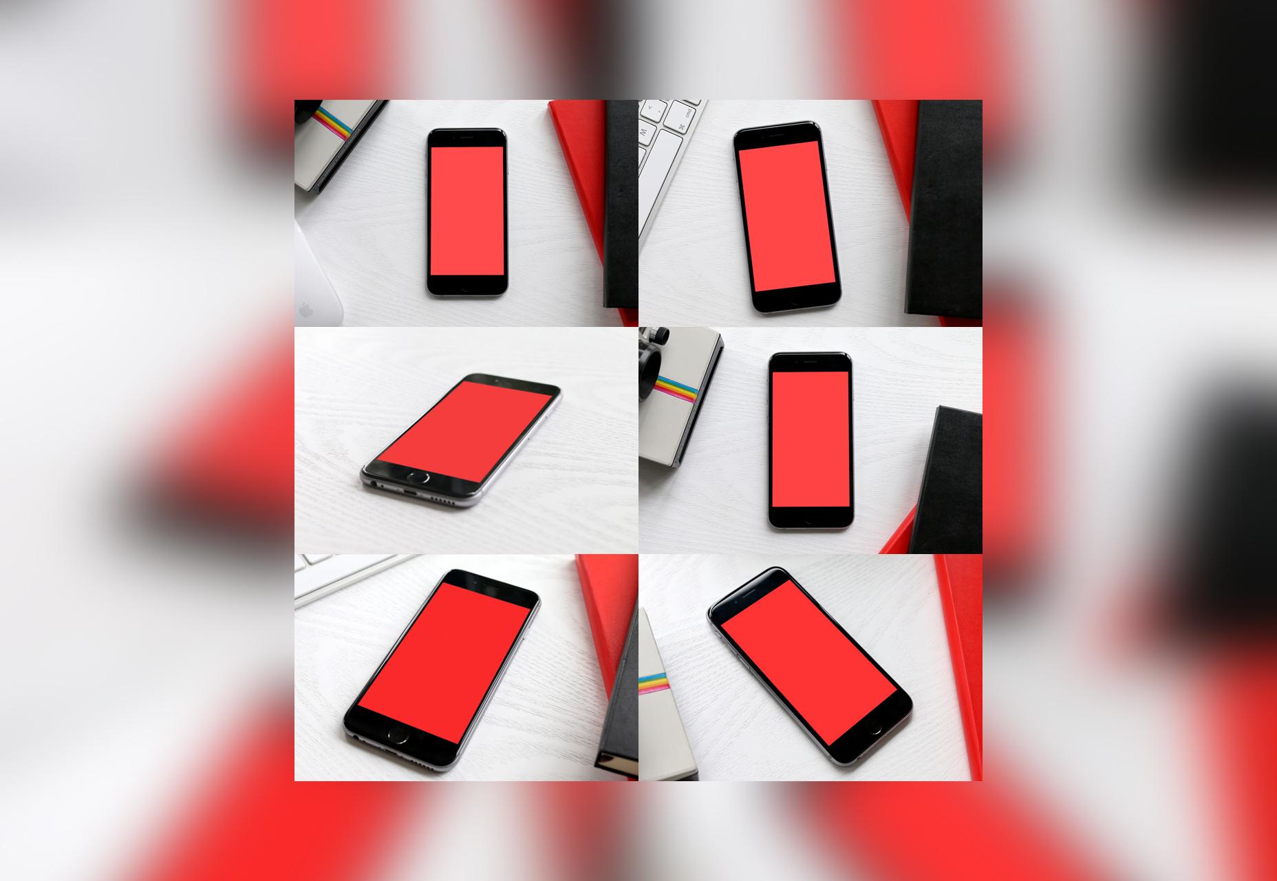 6 maquetas de iPhone PSD