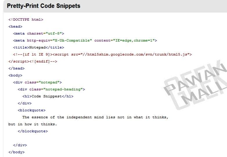 Stylish: Google code prettify