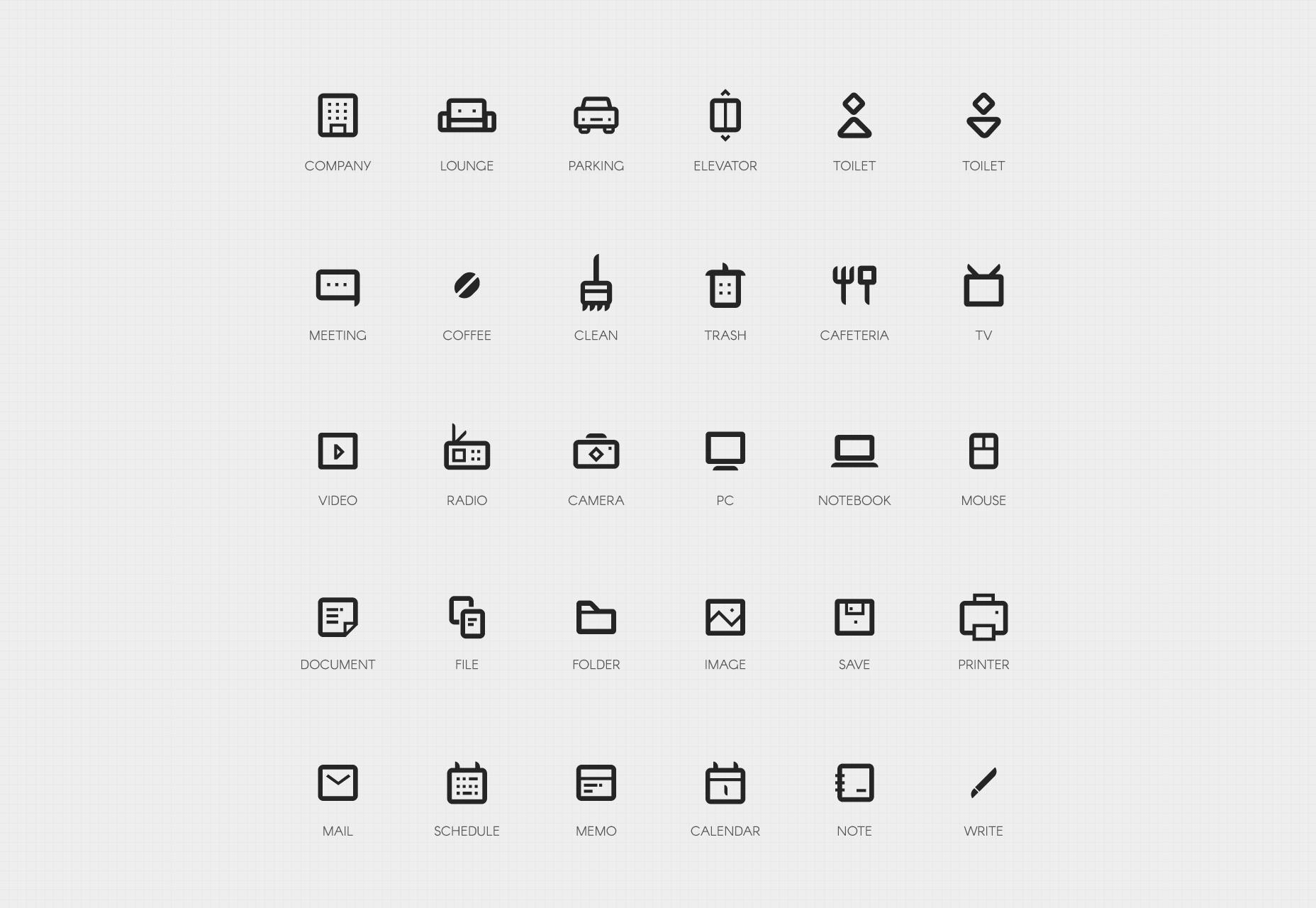 50 Yritys Bold Line Icons Set