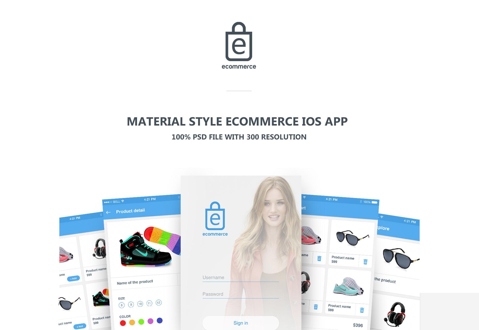 Kit de IU de estilo de material de comercio electrónico