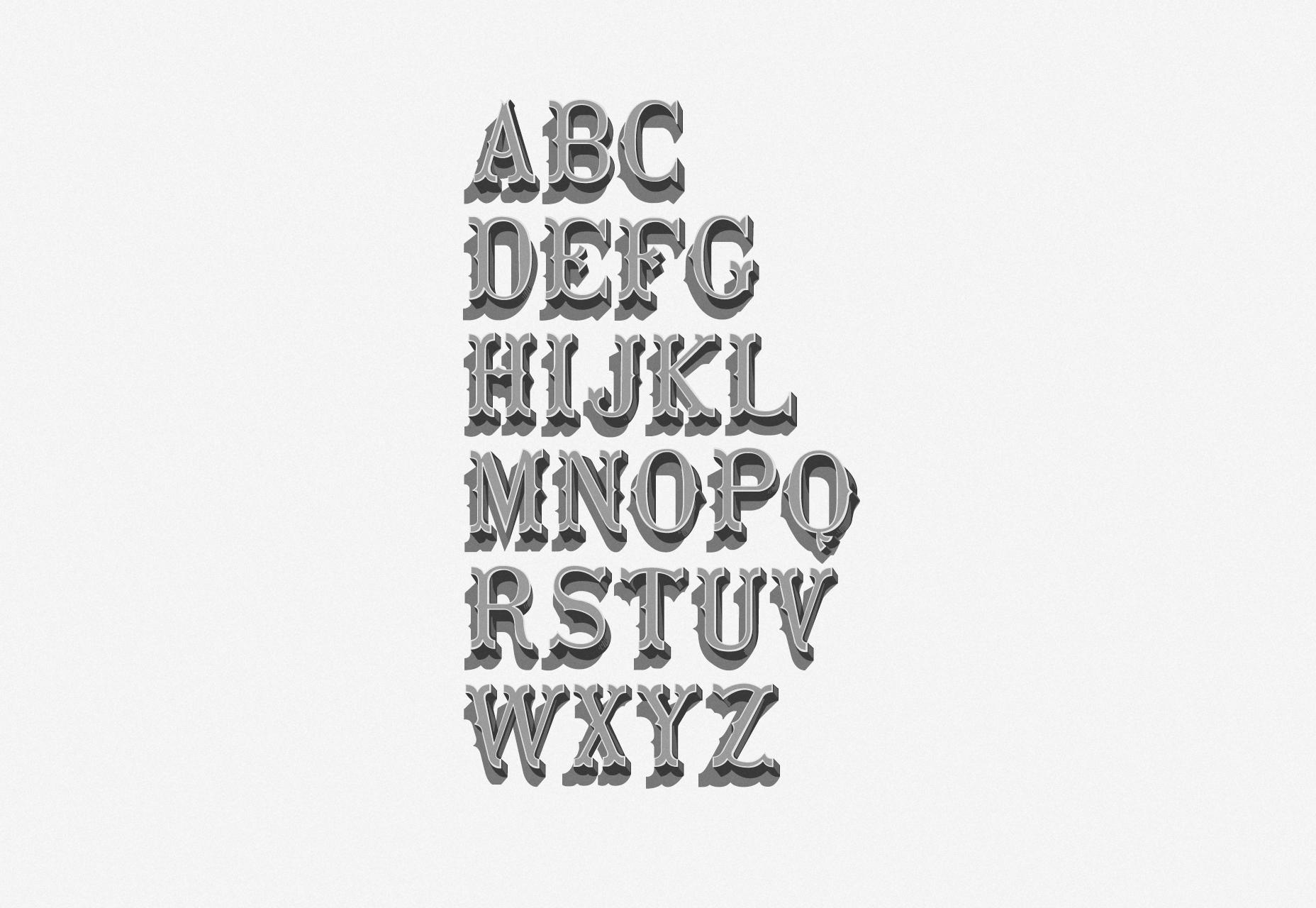 Fanaisie: A Vintage Cowboy Town-like lettertype