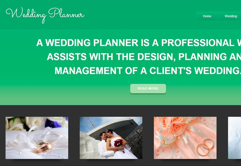 WeddingPlanner HTML theme