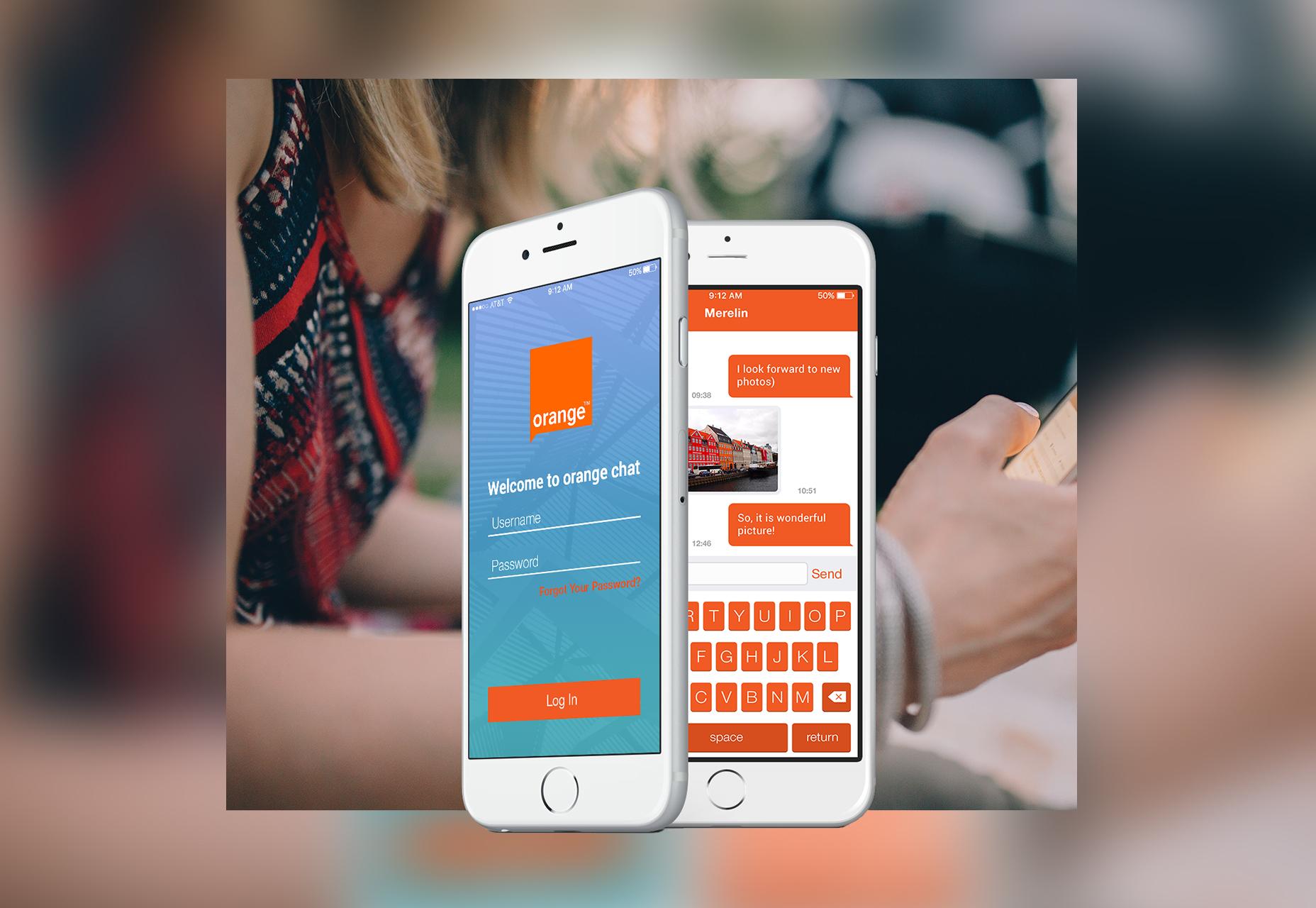 Kit de interfaz de usuario de Orange Mobile Chat