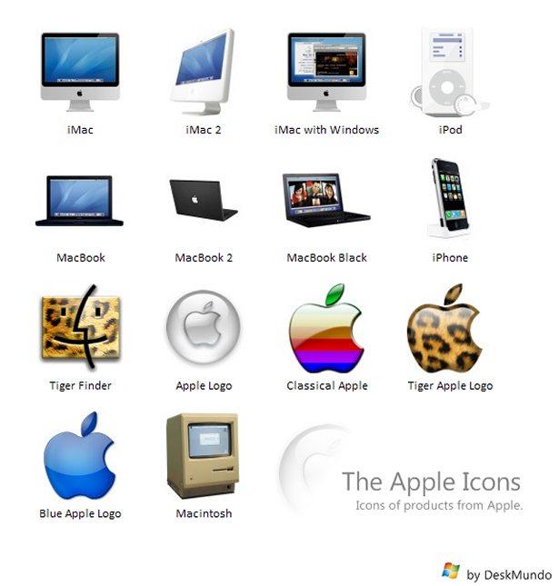 Iconos de productos Apple
