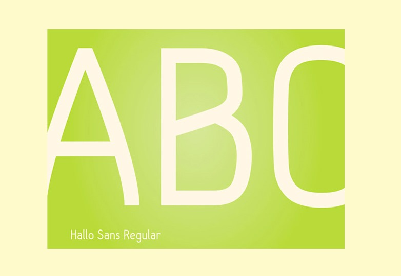 Hallo font