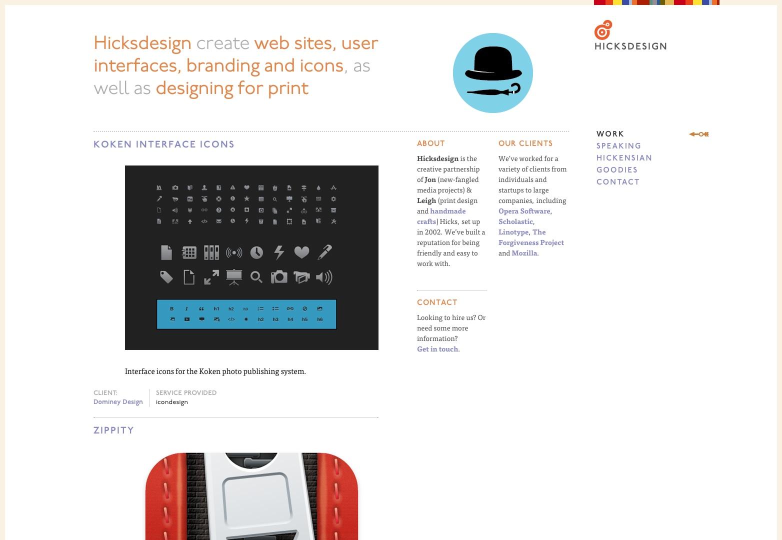 Hicksdesign: diseño para medios novedosos