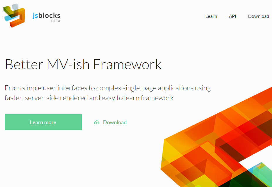 JSBlocks: Model View-like Web Development Framework