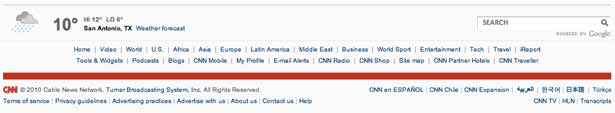 captura de pantalla del pie de página de CNN