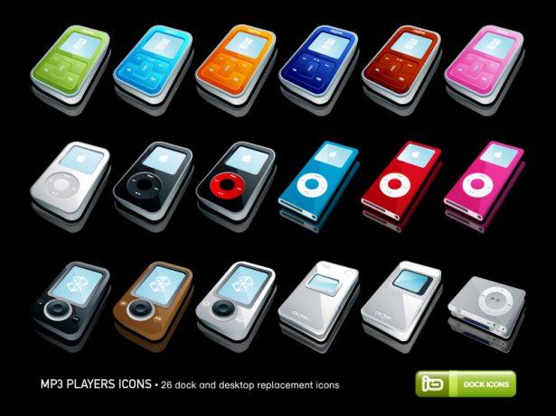 Iconos de reproductores de MP3