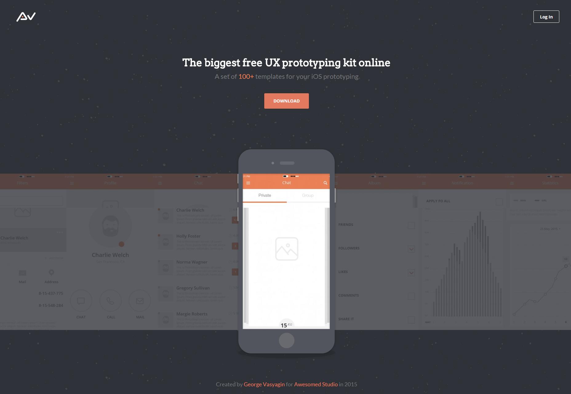 100 maquetas de UX para iPhone y iPad Free Set