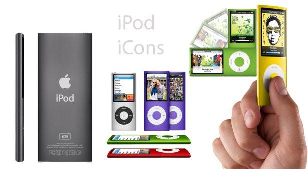 Iconos cromáticos iPod