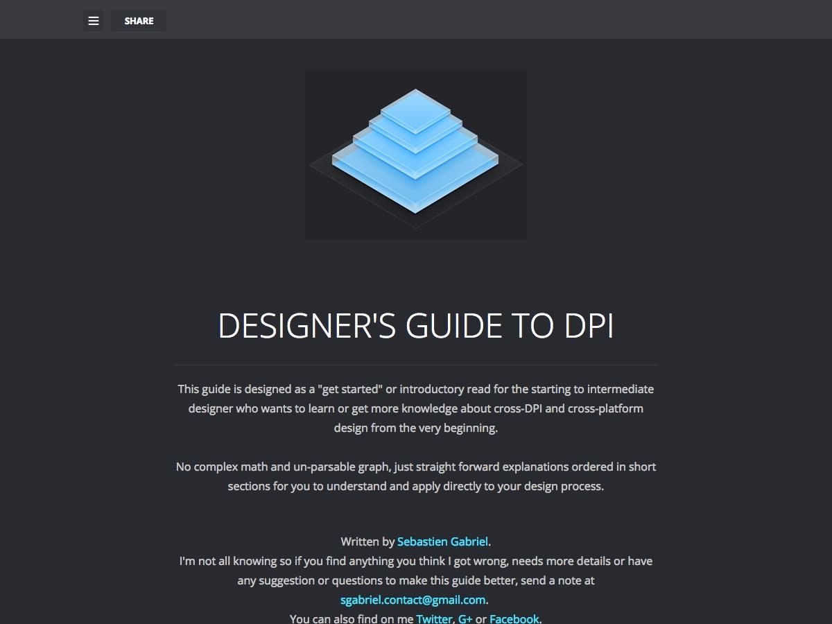 guía del diseñador para dpi