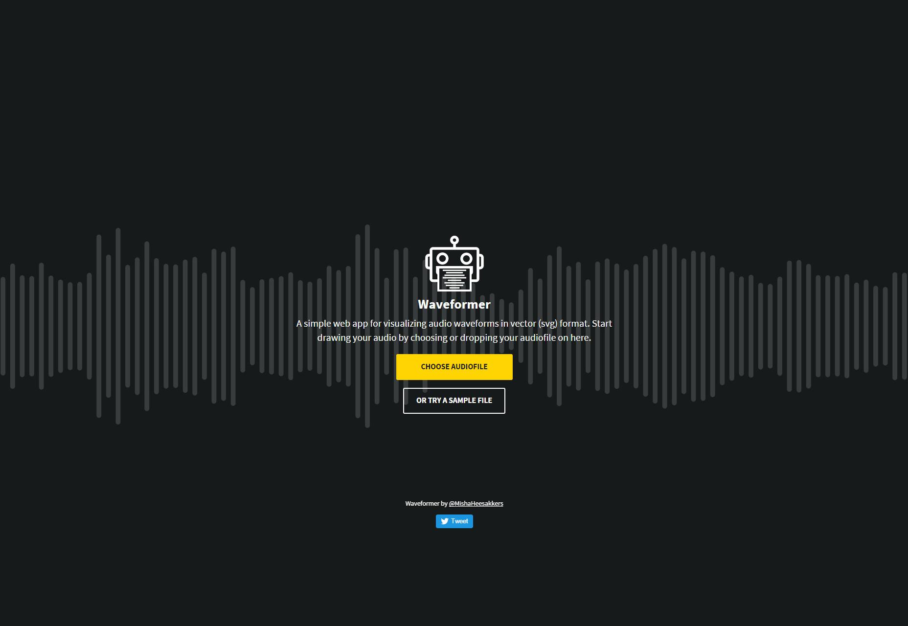 Waveformer: visualización de su audio en formas de onda vectoriales