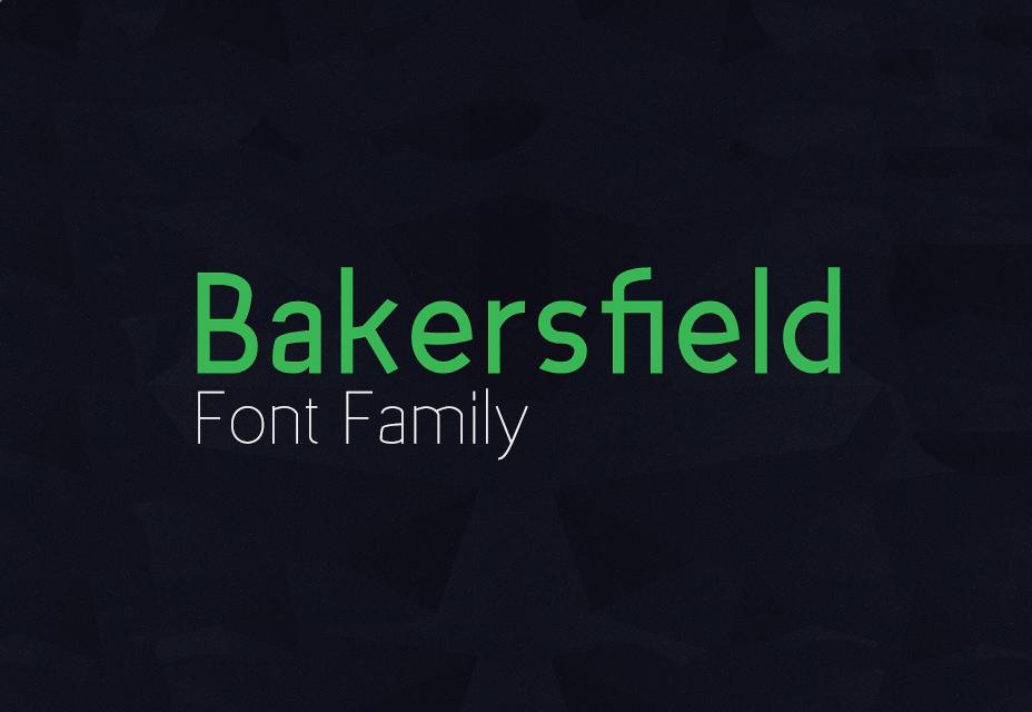 La familia de fuentes Bakersfield