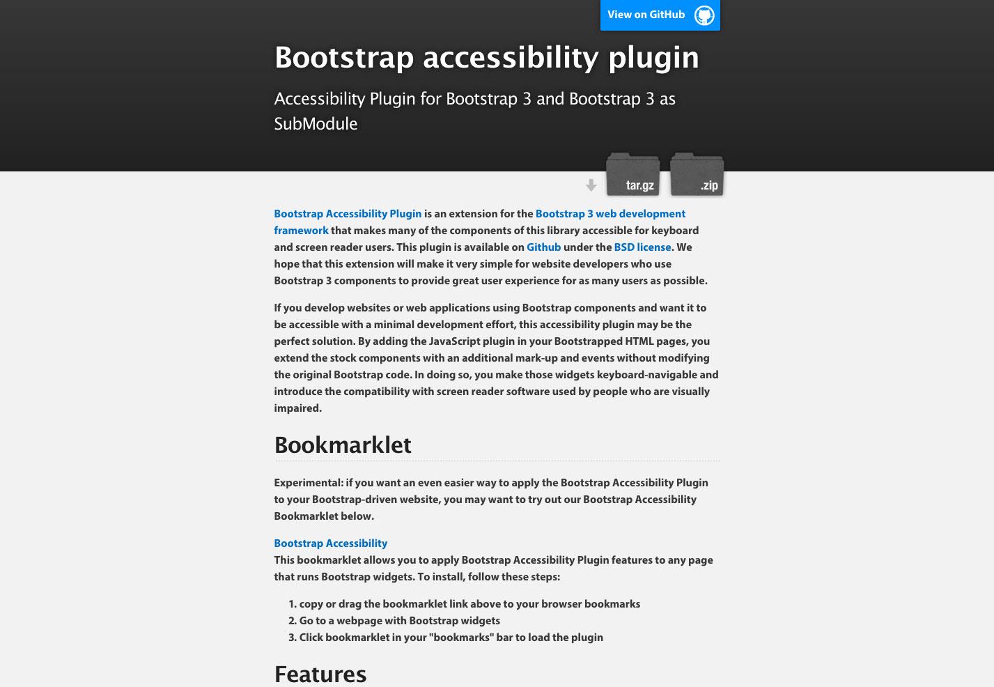 bootstrap toegankelijkheid plug-in