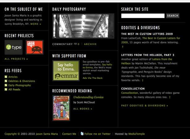 captura de pantalla del pie de página de Jason Santa Maria