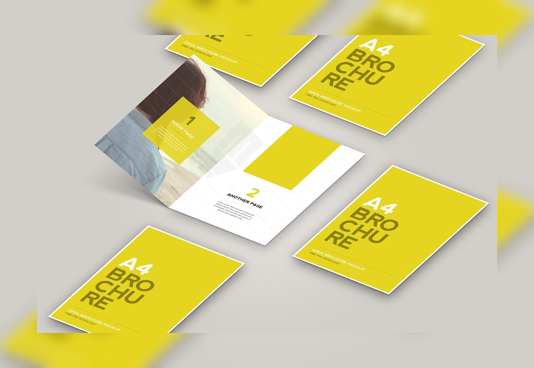 Abra la maqueta del folleto