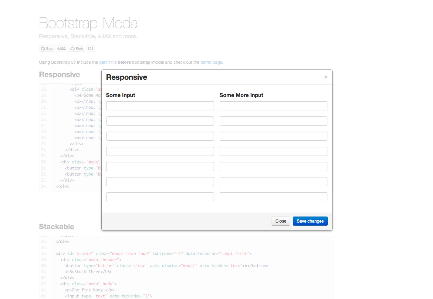 bootstrap-modale